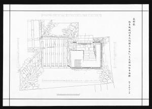 松本城竣功辰巳附櫓土台伏及び月見櫓地階平面図