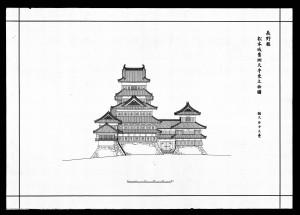 松本城実測天守東立面図