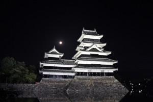 松本城公園 仲秋の名月 (2)