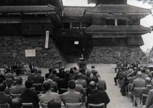 1950 The commencement ceremony of the reconstruction in the Showa era