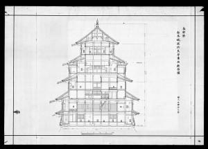 the Matsumotojo Shunko Tenshu Tozai Danmenzu
