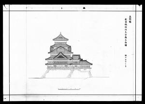 the Matsumotojo Shunko Tenshu Minami Ritsumenzu