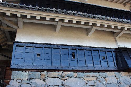 松本城 天守の壁と下見板