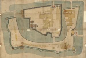 「信州松本城之図」(起し絵付)