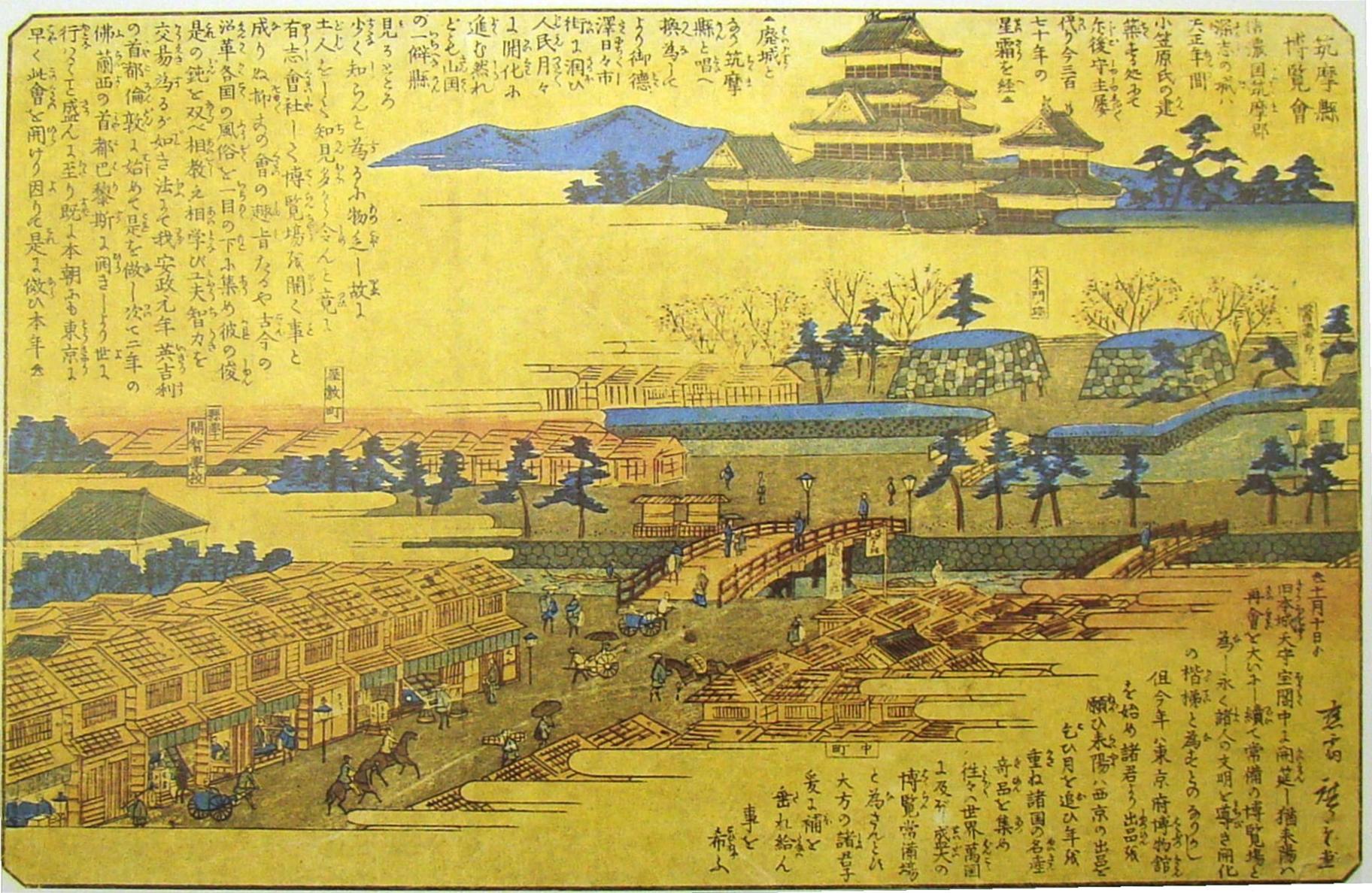 明治6年(1873) 筑摩県博覧会の錦絵