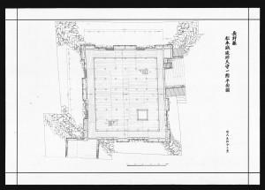 松本城竣功天守一階平面図