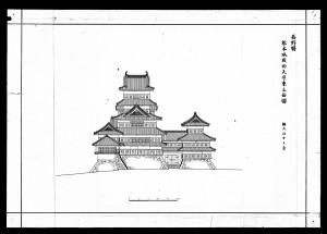 松本城竣功天守東立面図