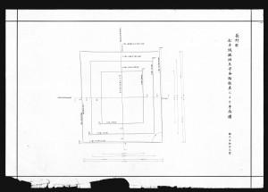 松本城竣功天守各階柱真による平面図