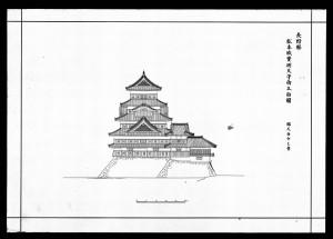 松本城実測天守南立面図