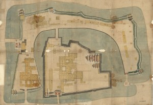 An illustration of the major parts of the castle