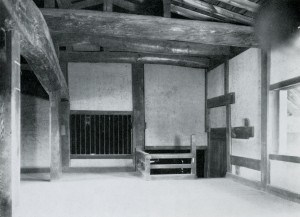 1950 The insides of the castle before the reconstruction in the Showa era