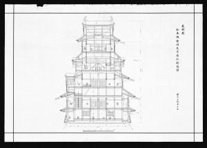 the Matsumotojo Shunko Tenshu Nanboku Danmenzu